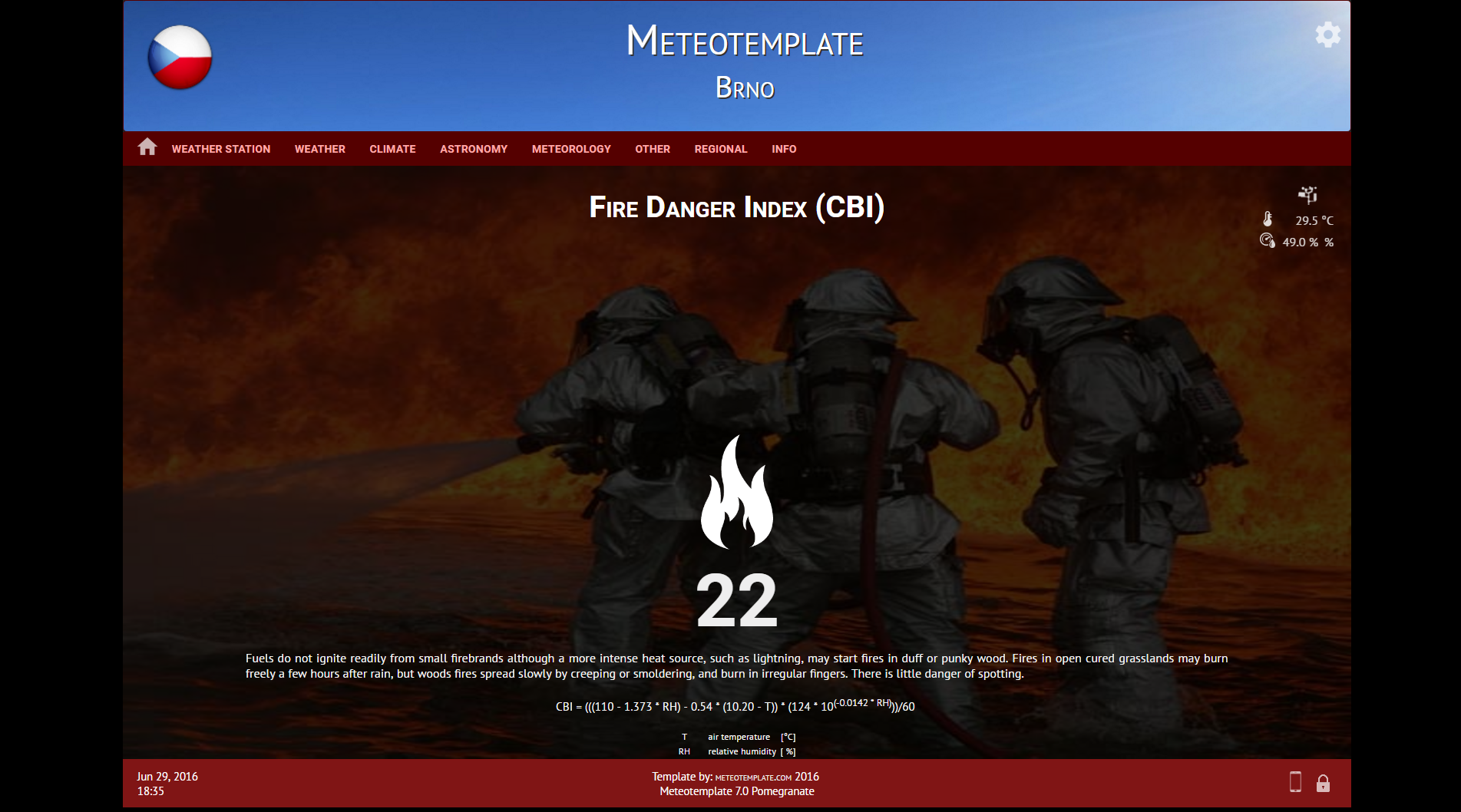 Meteotemplate - free weather website template
